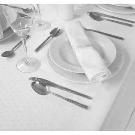 Faţă masă model Topo Alb 150X150 cm