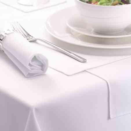 Faţă masă 6 persoane 150x180cm Damasc Plain alb